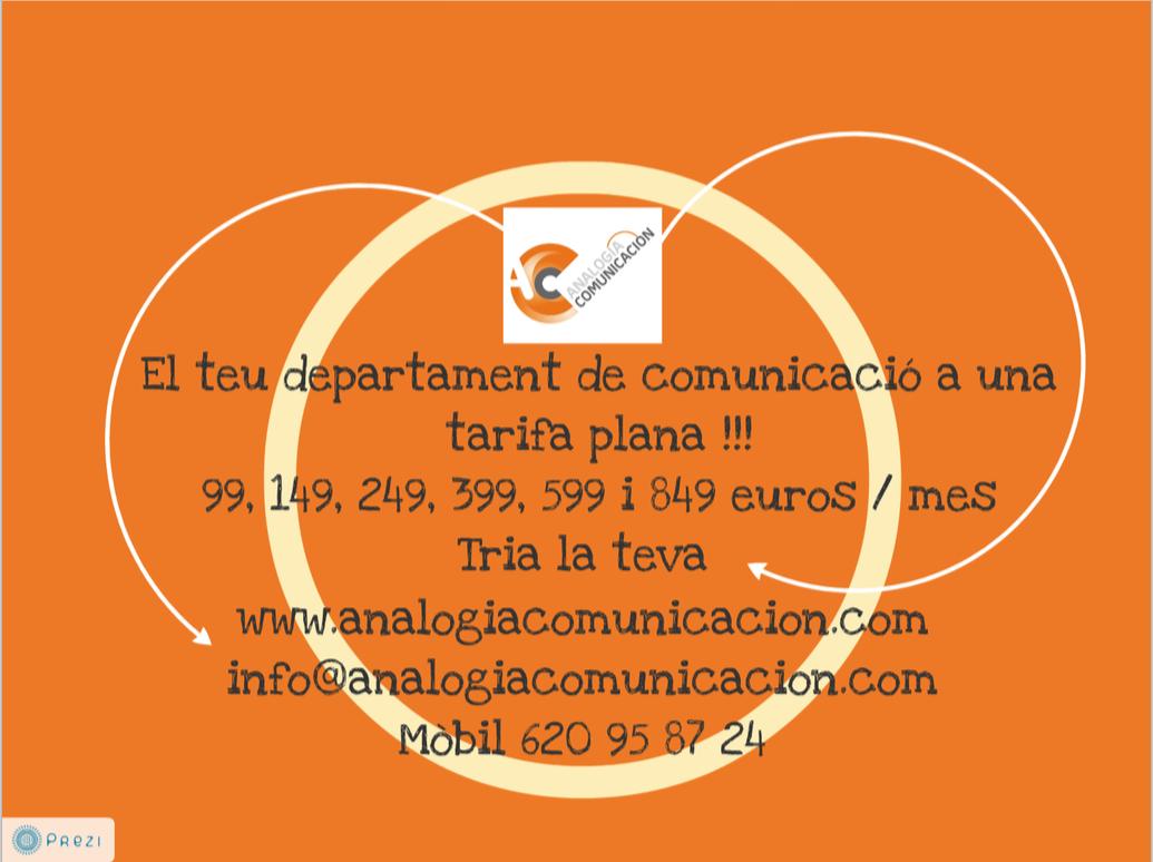 Tarifa Plana Analogía Comunicación